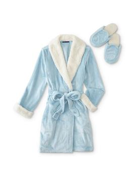 Simply Styled Women's Fleece Robe & Slippers by Simply Styled