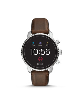 Gen 4 Smartwatch   Explorist Hr Brown Leather by Fossil