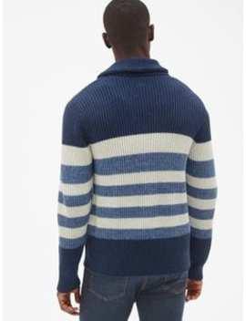 Ribbed Stripe Shawl Cardigan Sweater by Gap