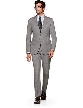 Napoli Light Grey Suit by Suitsupply