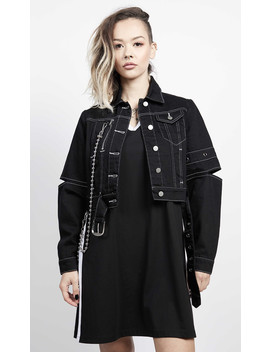 Discord Cropped Jacket by Disturbia
