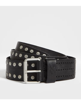 Dice Stud Leather Belt by Allsaints