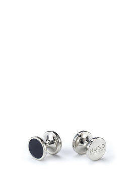 Round Cufflinks With Enamel Detail  by Boss