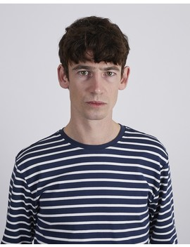 Heavy Long Sleeve T Shirt Blue by The Idle Man