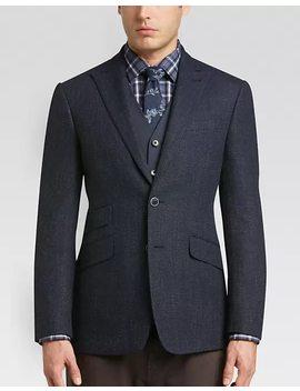 Joseph Abboud Navy Tic Slim Fit Sport Coat by Mens Wearhouse