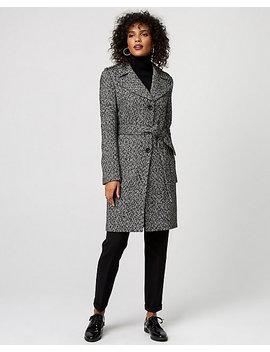 Herringbone Wool Blend Notch Collar Coat by Le Chateau