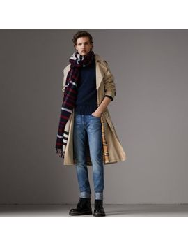Slim Fit Washed Japanese Selvedge Denim Jeans by Burberry