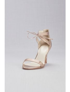 Metallic Ankle Tied Sandals by David's Bridal