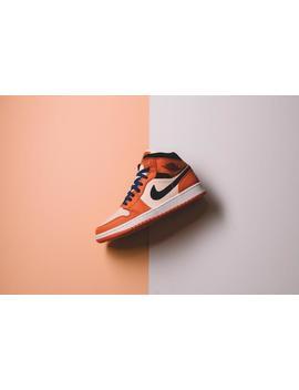 Air Jordan 1 Mid Se   Team Orange/Black/Crimson Tint by Politics