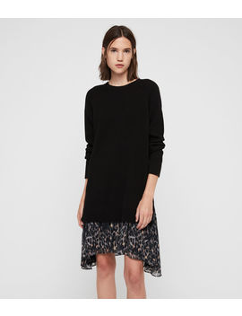 Leopard Sweater Dress by Allsaints