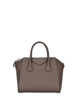 Grey Leather Shopper Bag by Givenchy