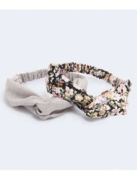 Floral &Amp; Crosshatch Twist Headband 2 Pack by Aeropostale