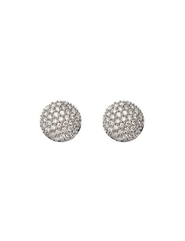 Pave Dome Diamond Stud Earrings by Aspinal Of London