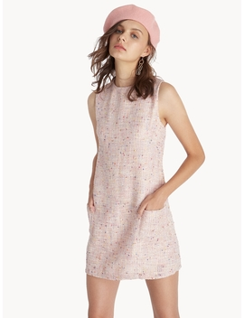 Mini Baby Doll Tweed Dress   Pink by Pomelo