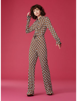 Michele Silk Jersey Jumpsuit by Dvf