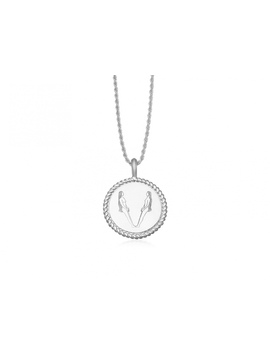 Silver Body Language V Initial Necklace By Fee Greening by Missoma