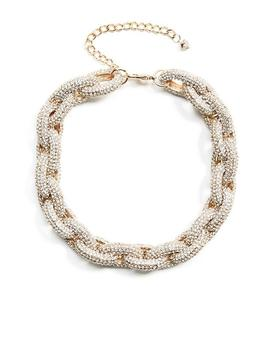 Pave And Gold Tone Chain Link Bracelet by Guess