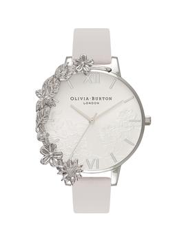 Case Cuffs Silver Lace & Blush Watch by Olivia Burton