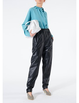 Tissue Leather Pull On Pants by Tibi