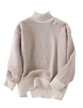 'morgan' Bicolor Roll Neck Sweater (2 Colors) by Goodnight Macaroon