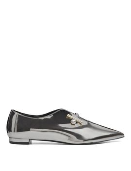 Aboveall Pointy Toe Flats   Pewter Synthetic by Nine West