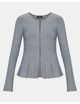 Marled Peplum Jacket by Theory