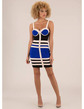 Flawless Design Colorblock Minidress by Go Jane