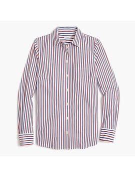 Washed Shirt In Red And Blue Stripes by J.Crew