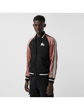Ekd Logo Nylon Varsity Jacket by Burberry