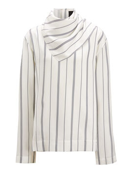 Cannon Lining Stripe Blouse by Joseph
