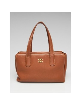 Brown Caviar Leather Cc Medium Tote Bag by Chanel