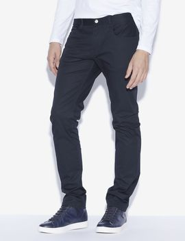 Classic Slim Fit Twill Pants by Armani Exchange