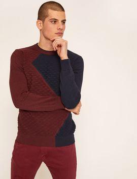 Textured Stitch Zigzag Sweater by Armani Exchange