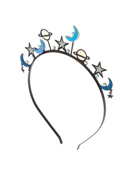 Holographic Galaxy Crown Headband by Claire's