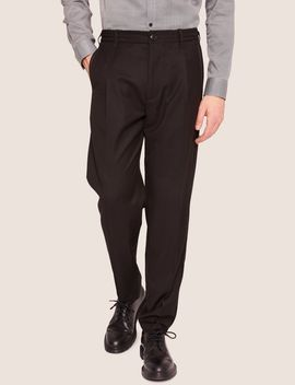 Velvet Piping Pleated Trouser by Armani Exchange