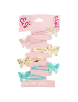 Claire's Club Butterfly Snap Hair Clips   6 Pack by Claire's