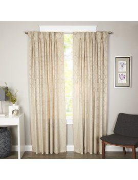 Alcott Hill Goldsboro Geometric Room Darkening Thermal Pinch Pleat Single Curtain Panel & Reviews .Ca by Alcott Hill