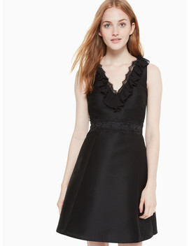 Lace Mikado Dress by Kate Spade