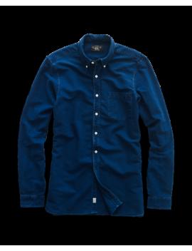 Indigo Cotton Oxford Shirt by Ralph Lauren