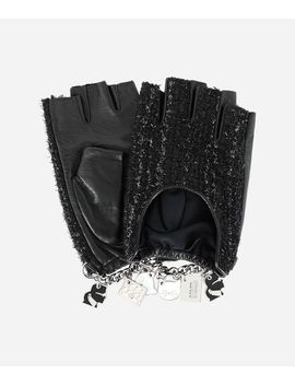 K/Charm Tweed Gloves by Karl Legerfeld