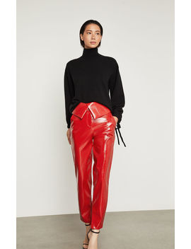 Faux Leather Peplum Pant by Bcbgmaxazria
