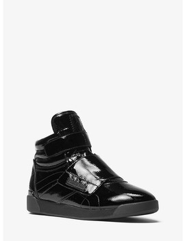 Addie Patent Leather High Top Sneaker by Michael Michael Kors