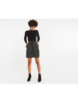 Crushed Spot Paperbag Skirt by Oasis
