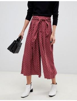 asos-design-culottes-in-spot by asos-design