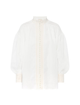 Corsage Long Sleeve Blouse by Zimmermann