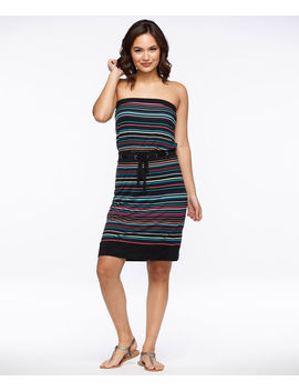 Striped Bandeau Dress by Ricki's