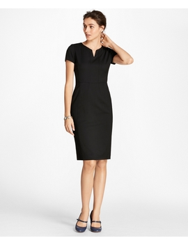 Wool Sheath Dress by Brooks Brothers