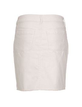White Denim Raw Hem Skirt by Ricki's