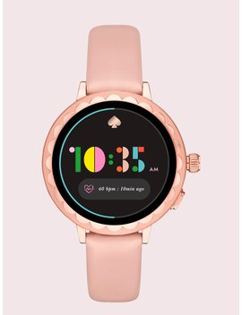 Blush Leather Scallop Smartwatch 2 by Kate Spade