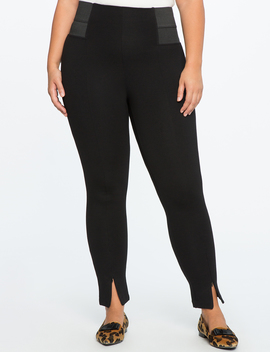 Miracle Flawless Split Front Zipper Leggings by Eloquii